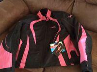 Ladies armoured biker jacket