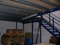 MEZZANINE FLOOR 15M X 9.4M WITH STAIRS DISMANTLED READY TO GO( STORAGE , PALLET RACKING )