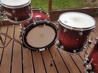 Mapex Orion maple drum kit wine red burl