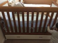 Spacious Cot Bed with Storage in Great Condition