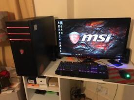 MSI High-end gaming desktop i5-7400 Nvidia GTX1050 TI 4Gb