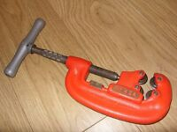 """Ridgid No 42A Four Wheel Pipe Cutting Tool / Cast Iron Cutter - 3/4"""" - 2"""" Top Quality - Made In USA"""