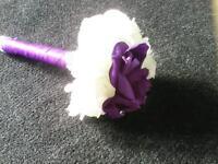 Beautiful purple/white flowergirl bouquet