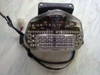 gsxr 600 750 k1 2 3 clear led tail light, jntergrated indicators