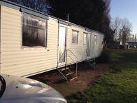 2 bedroom 6 berth mobile home sited at billing aquadrome