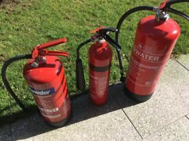 3 fire extinguishers brand new never used