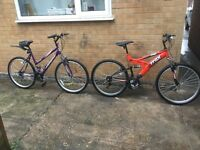 MENS AND WOMENS MOUNTAIN BIKES IN MINT CONDITION