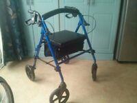Light weight, fold away walk rollator excellent condition.