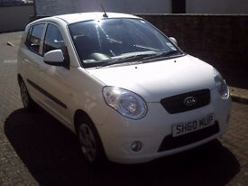 2010 60 KIA PICANTO 1.1 DOMINO 5 DOOR ** 36000 MILES ** ONE OWNER ** £30 PER YEAR ROAD TAX **