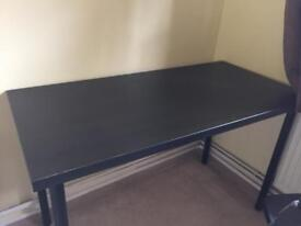 Black IKEA Desk for sale