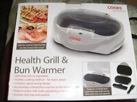 HEALTH GRILL & BUN WARMER (Brand New & Boxed)