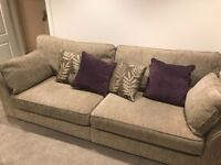 4 seater sofa and 3 seater sofa bed.