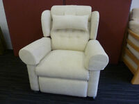 Riser Recliner Chair. Dual Motor. Massage. Lumbar Support. Head Cushion. Arm Covers. Petite Size.