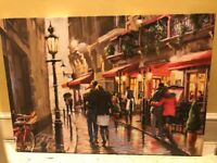 Picture canvas - night time cafe by MacNeil