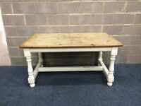 Chunky Solid Pine Farmhouse Style Kitchen Table