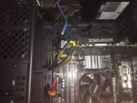 Mid range gaming pc with monitor and keyboard