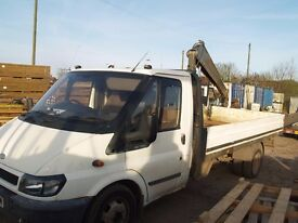 ford transit truck with hiab good condition long mot