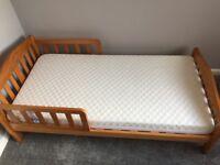 Mothercare Darlington Toddler bed + Mattress (new) - £40