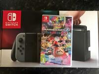 Nintendo switch and Mario kart 8