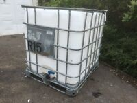 DELIVERY POSSIBLE. 1000 LITRE IBC CONTAINER DELIVERY POSSIBLE