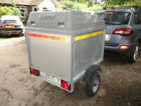 ERDE 127 EXTRA HEIGHT GOODS (CAMPING) TRAILER WITH PLASTIC TOP......