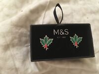 New boxed Christmas cuff links