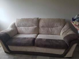 Two three seater couches
