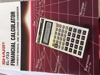 Vintage Sharp EL733 financial calculator