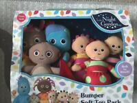 New night garden soft toy set