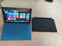 Microsoft Surface Tablet (RT 8.1. 32 bit) + 2 keyboard, case, charger. VGC