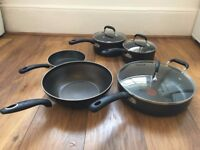 Tefal pot & pan set - frying pans, wok and pans with lids