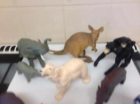 Toy animals selection