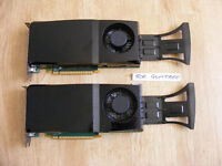 Pair of Dell (nVidia) GTX260 graphics cards for sale.