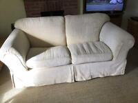 Cream / light yellow 2/3 Seater 'super comfy' Sofa