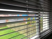 Dark wood blinds (brown/black) immaculate condition. Paid £125 per window. 4 sets available £30 each