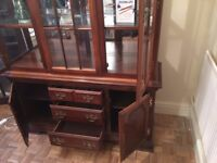 FREE TO GOOD HOME - Beautiful solid wood Display Cabinet with light in the top