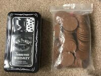 Poker playing cards and chips - Jack Daniels