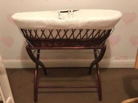 Moses Basket with stand £10