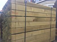 4ft 3x3inch treated decking posts £10 each