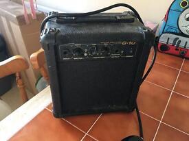 Burswood G-10 amp and guitar