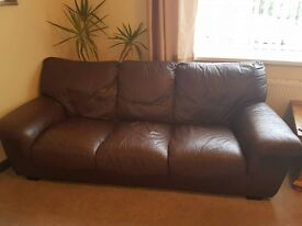 3 seater sofa and chair.