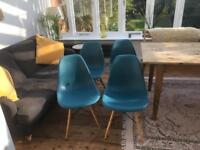 X4 Eames style chairs
