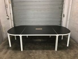 FREE DELIVERY BEKANT WOODEN TOP TABLE IN GOOD CONDITION