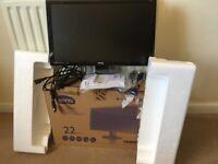 BenQ GL2250 PC Monitor and Box