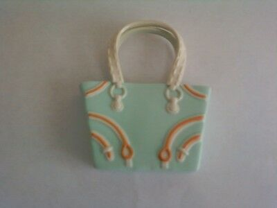 My Scene Barbie Doll Light Green White & Orange Purse Handbag