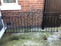 WROUGHT IRON METAL DRIVE GATES WITH SIDE GATE