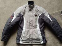 Ladies motorbike jacket. Size 10/12