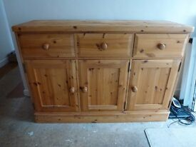 Pine Three Door Sideboard in excellent condition