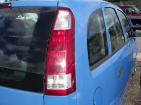 VAUXHALL MERIVA 1.6 2003-2010 REAR DRIVERS LIGHT CLUSTER