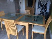 Forrest Furniture Table & Chairs in good condition only replacing as changed my kitchen dining room